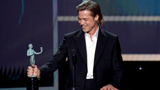 Brad Pitt Clowns On His Failed Marriages, Tinder, And Tarantino's Foot Obsession Is Epic SAG Awards Speech
