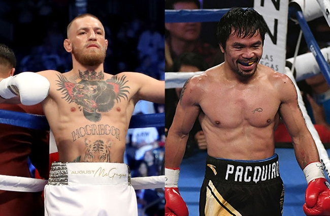 conor mcgregor manny pacquiao boxing match