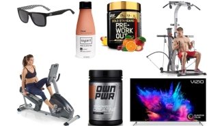 Daily Deals: Protein Powders, Soylent, Home Gym Equipment, Lacoste Sunglasses, 75-Inch TVs, Finish Line Sale And More!