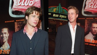 Brad Pitt Says He And Ed Norton Were So High At The 'Fight Club' Premiere They Were The 'Only Ones' Laughing