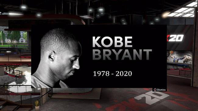 Gamers Honor Kobe Bryant NBA 2K20 Adds In-Game Tribute