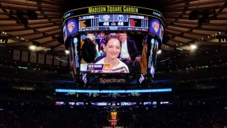 The Most Disturbing Kiss Cam Moment In History Occurred At The Knicks Game, Viewer Discretion Is Advised