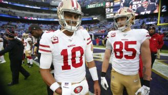 It Turns Out Jimmy Garoppolo Isn't Perfect As George Kittle Says He's 'Worst Texter' Ever