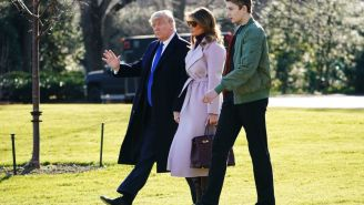 President Trump's Son Barron Is Insanely Tall And It's Only A Matter Of Time Before He Takes Over The NBA