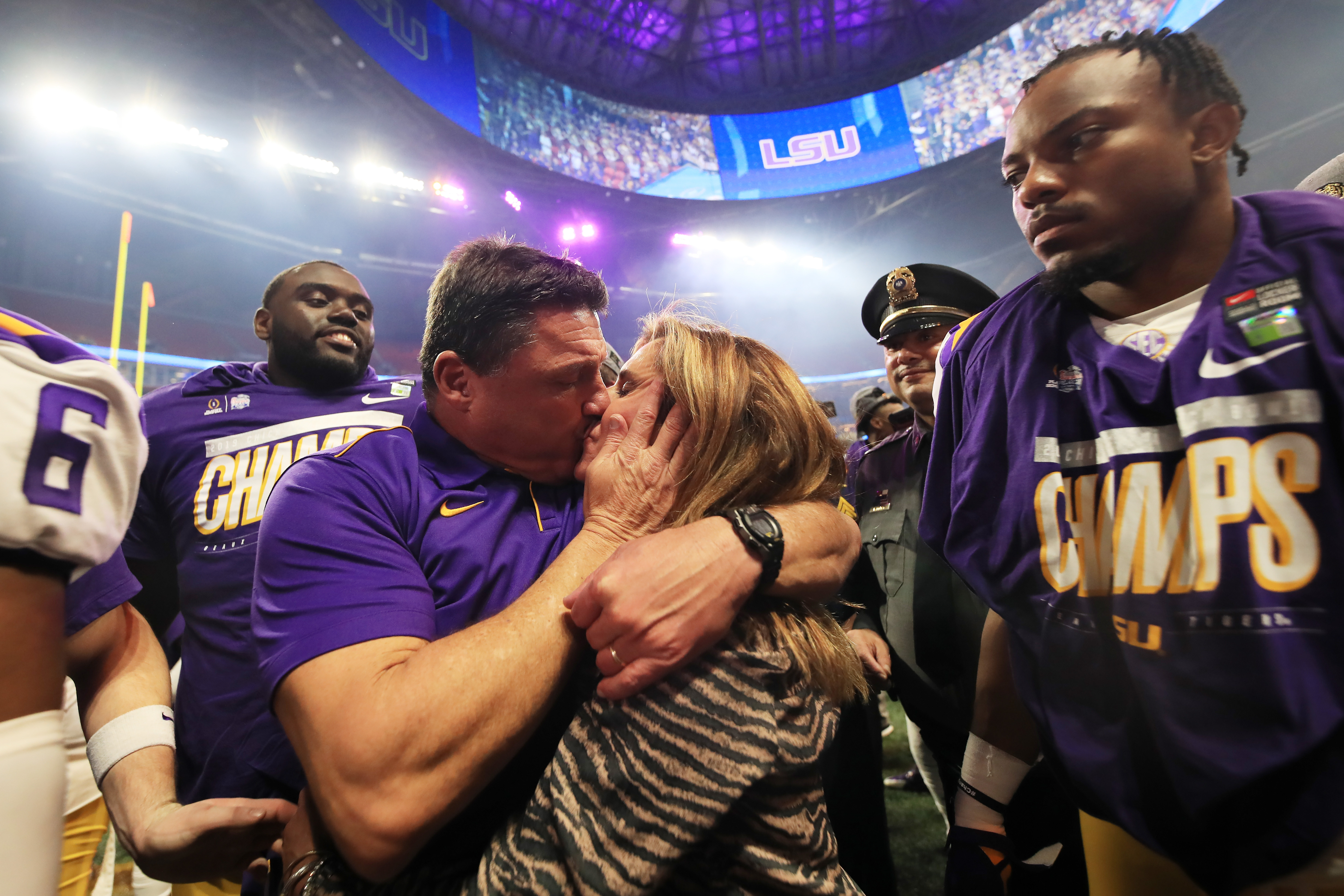 Ed Orgeron Earned A Thick Bonus Check For Winning The National Championship, Celebrates With Ham Sandwich