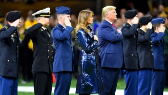 'Teacher Of The Year' Honoree Took A Knee Behind President Trump During Anthem At National Championship Game