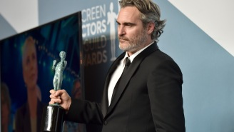 Joaquin Phoenix Celebrated His SAG Award Win In The Most Depressing Way Possible