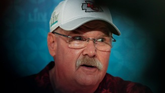 Andy Reid Rocking A Hawaiian Shirt And Dad-Approved Khakis During Media Day Is Our Beacon Of Light In Dark Times