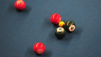 This Outrageous Bocce Ball Shot Seems To Bend The Rules Of Physics At The 'Bowls' World Indoor Championships