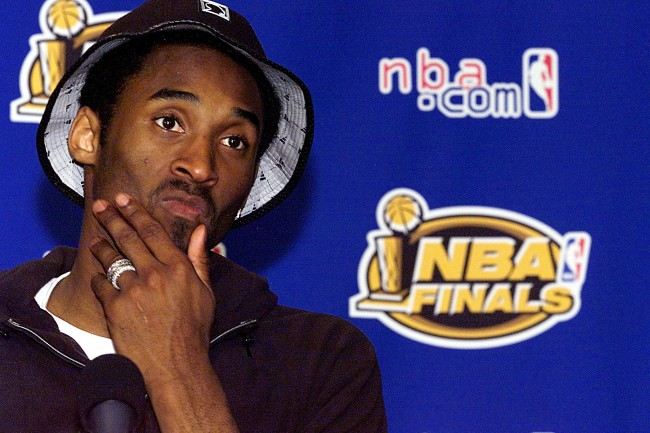 Kobe Bryant was extremely sad after winning the 2001 NBA championship with the Los Angeles Lakers, the reason he was so distraught in the shower with the Larry O'Brien trophy is because of his parents.