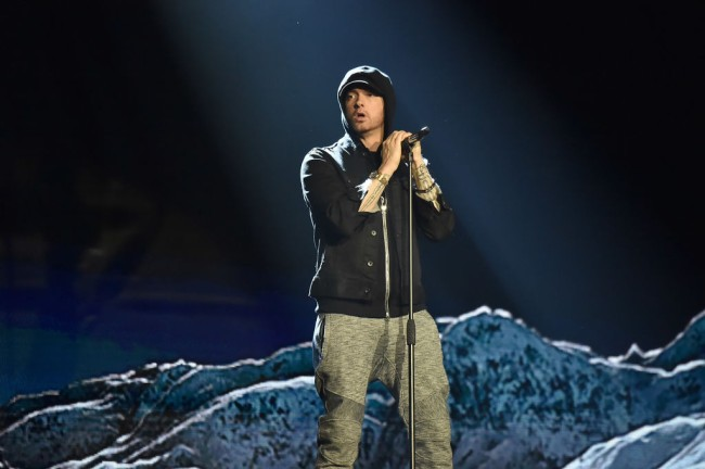 Darren Stewart, who is the rapper Zee the Dungeonous released a song titled Music To be Murdered By, which uses the same artwork, Alfred Hitchcock samples and release date as Eminem's newest album.