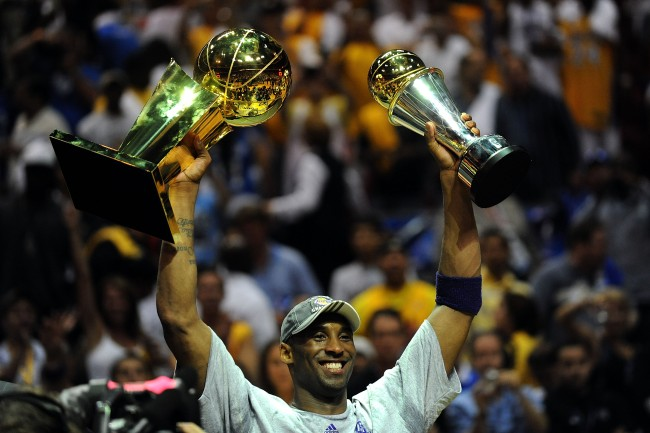 Kobe Bryant one goal since he was a kid was to win eight NBA championships so he would have way more than Michael Jordan and Magic Johnson.