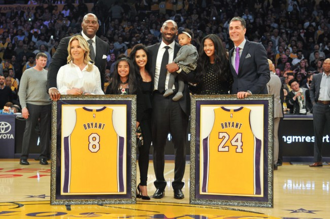 Los Angeles Lakers controlling owner and president Jeanie Buss paid tribute to Kobe Bryant and his family on Instagram.