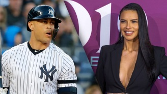 Giancarlo Stanton Gears Up For Yankees Spring Training By Bench-Pressing Supermodel Adriana Lima