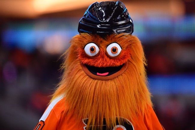 flyers mascot gritty investigated punching teen