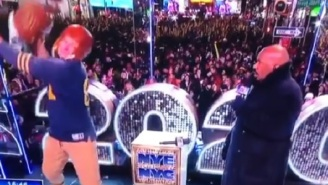 Steve Harvey Forgives Gronk For Spiking His Lego Head On NYE And Admits It Was 'An Act'