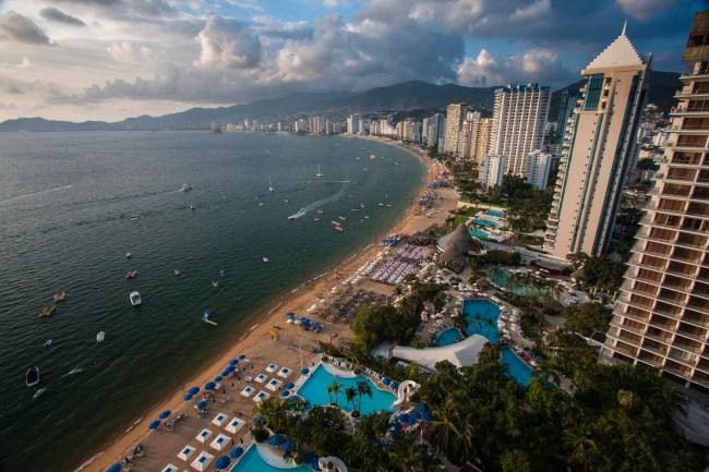 Acapulco, Mexico beach and coastline