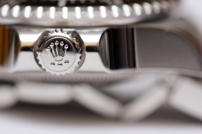 Rolex watch close up