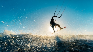 This Kitesurfer Casually Catapulting Out Of The Water And Flying Over A 450-Foot Island Gave Me One Hell Of An Adrenaline Rush