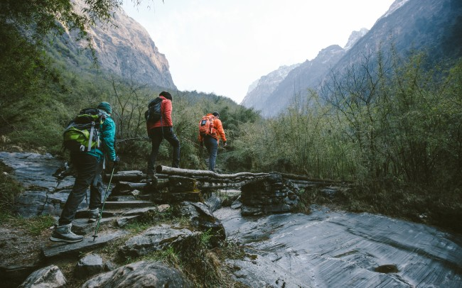 rugged hiking