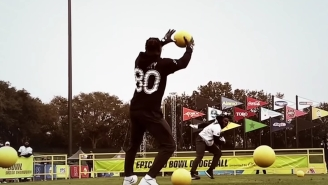 Jarvis Landry Put On A Master Class In Dodgeball And Proved He's Got Some Of The Fastest Hands In The Game