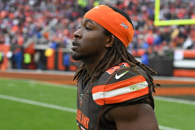 The Kareem Hunt arrest video has been released, and it shows the running back pleading with cops from the back of the cruiser