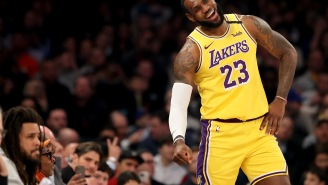 LeBron James Laughed In Reporter's Face After Being Asked Dumb Question About Playing For Knicks With His HS Son
