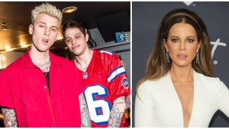 Kate Beckinsale Spotted Leaving Golden Globes Party With Pete Davidson's Best Friend, Machine Gun Kelly