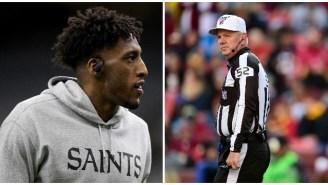 Saints' Michael Thomas Mocks The NFL's Decision To Hire The Ref Who Boned The Saints Last Season's NFC Championship To Officiate The Super Bowl