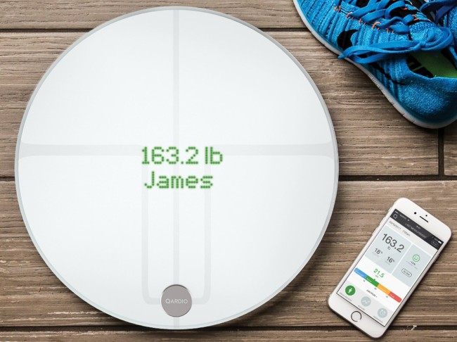 Qardio Smart Scale Wireless Bathroom Scale BMI Muscle Weight Tracker