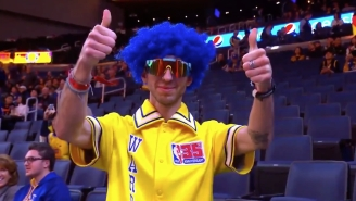 Human Chameleon Gets Himself On Jumbotron At 30 Different NBA Games In 30 Days