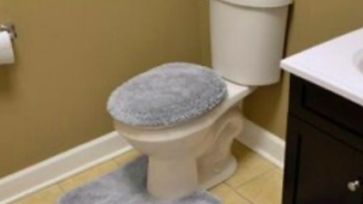 What Sort Of Monster Puts A Shag Carpet Cover On Their Toilet Lid?