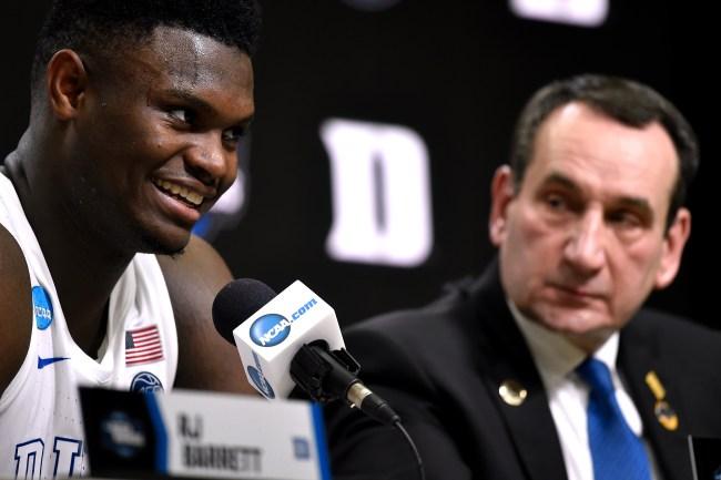 Zion Williamson explains why Mike Krzyzewski wouldn't allow him to come back to Duke this season.