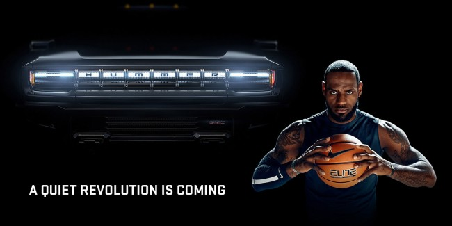 GM introduces new electric Hummer truck in Super Bowl LIV commercial with LeBron James.