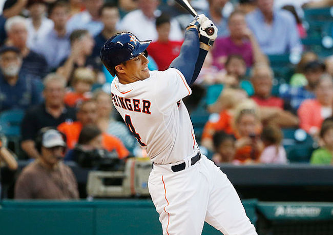 george springer booed whiffs on pitch