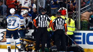Blues Defenseman Jay Bouwmeester Collapses On Bench After Suffering A Cardiac Episode