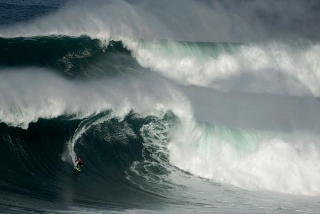 Surfing Nazare Portugal