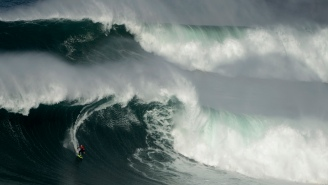 This Recap Of Skyscraper-Sized Waves From The Nazare Tow Surfing Challenge Is Proof Big Wave Surfers Have A Death Wish