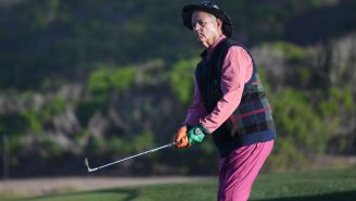 Bill Murray Ripped A Tequila Shot While Golfing At The Pebble Beach Pro-Am