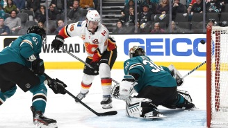 Matthew Tkachuk's Between-The-Legs And Over-The-Shoulder Goal Against San Jose Is So Saucy I'm Now Craving Noodles