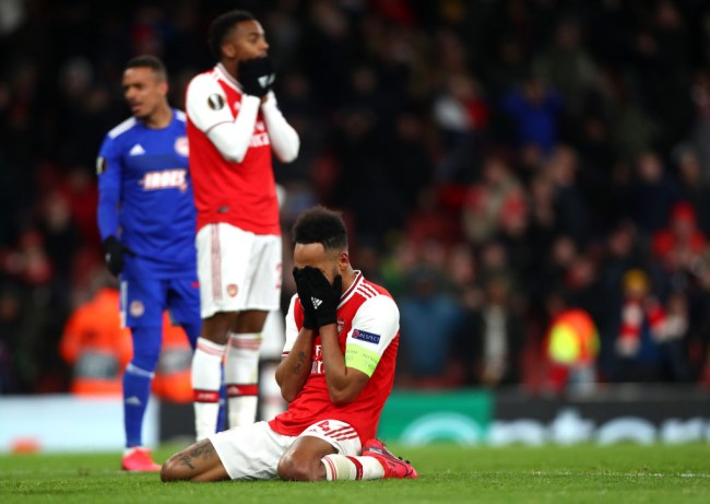 arsenal out of europa league