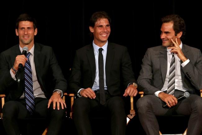 Novak Djokovic Rafael Nadal and Roger Federer