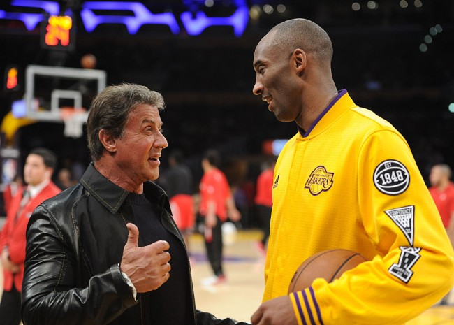 Sylvester Stallone says Kobe Bryant should get his own statue in Philadelphia next to Rocky.