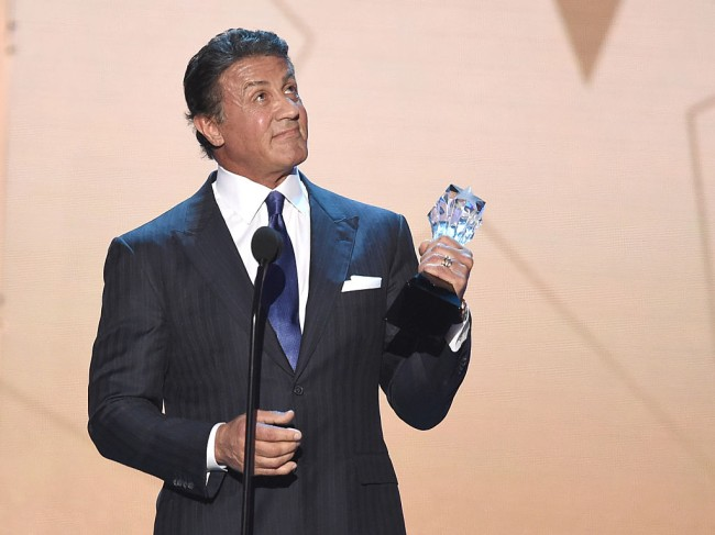 Sylvester Stallone stops dying his hair black and lets his grey hair flow in new Instagram photo.