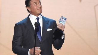 Sylvester Stallone Ditches The Dye And Looks Completely Different With Gray Hair