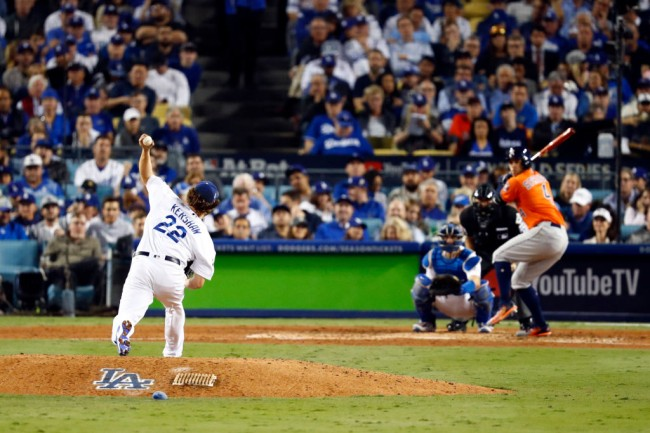 Clayton Kershaw got roughed up the the Houston Astros in the 2017 World Series, but staggering stat shows Astros batters swung zero times at all 51 of Kershaw's breaking pitches, giving more fuel to Astros cheating scandal.