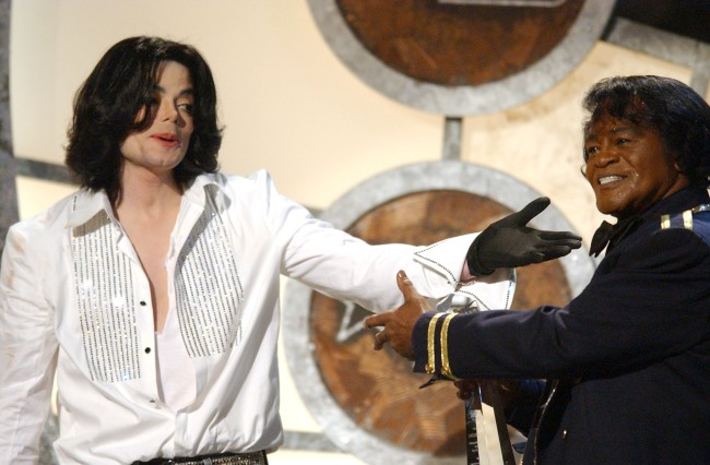 Michael Jackson and James Brown
