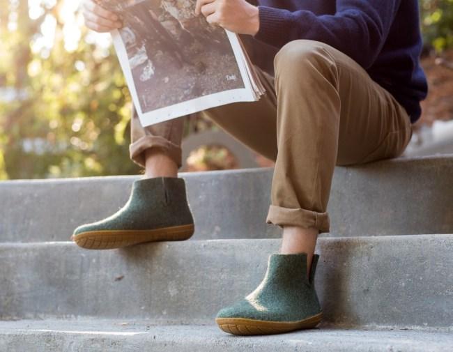 Glerups Merino Wool Slippers Indoor Outdoor For Men