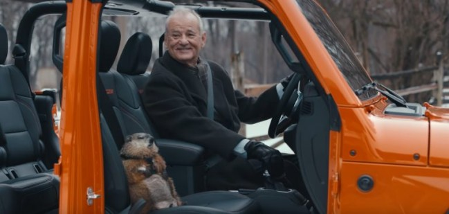 Bill Murray Ground Hog Day movie commercial for Jeep.