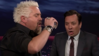 Guy Fieri Channels His Inner Rocky Balboa And Chugs A Raw Egg Despite Famously Despising Them